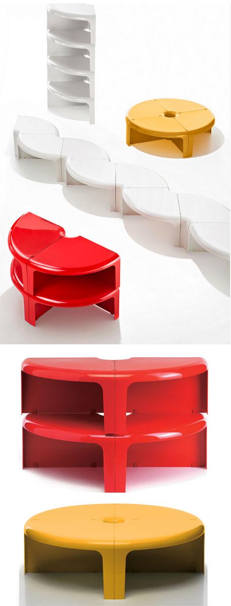 Rodolfo Bonetto Quattro Quarti 44 Modern Stackable Table  : Q01BB from www.nova68.com size 500 x 1622 jpeg 94kB