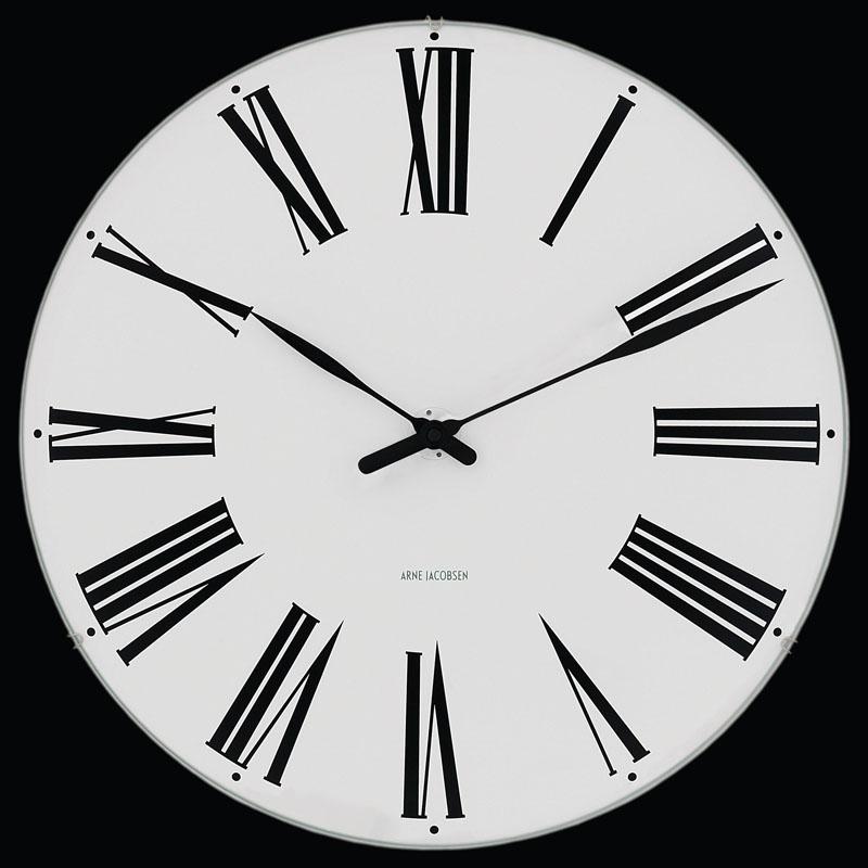 Modern outdoor christmas decor - Arne Jacobsen Roman Wall Clock Nova68 Modern Design