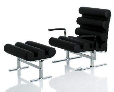 Joe Colombo: Roll Armchair and Footstool