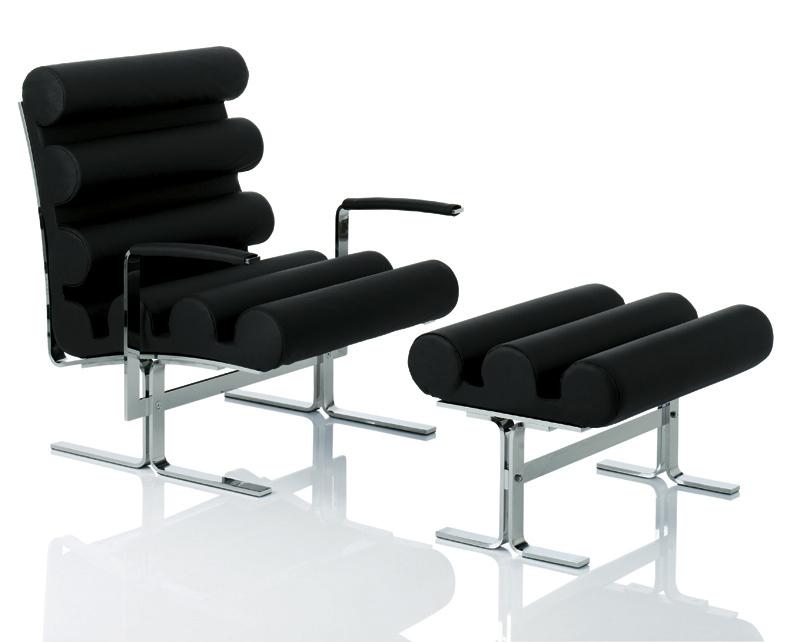 Joe Colombo Roll Armchair And Footstool NOVA68 Modern Design