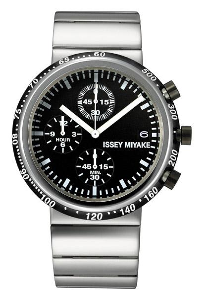Issey Miyake Watch: Naoto Fukasawa Trapezoid Black Luxury Watch