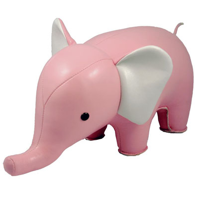 PINK ELEPHANT Fun Animal Shape Elephant Bookend   Elephant Bookend