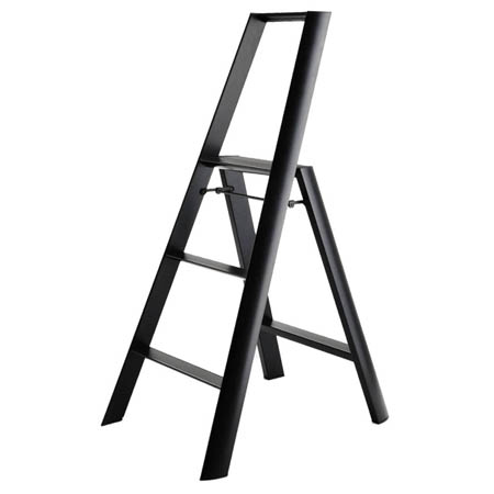 Folding Modern Step Stool Ladder In Aluminum Nova68