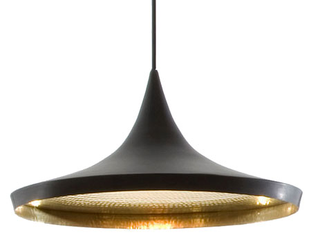 Beat Pendant Light Wide Black Copper From Tom Dixon Beat