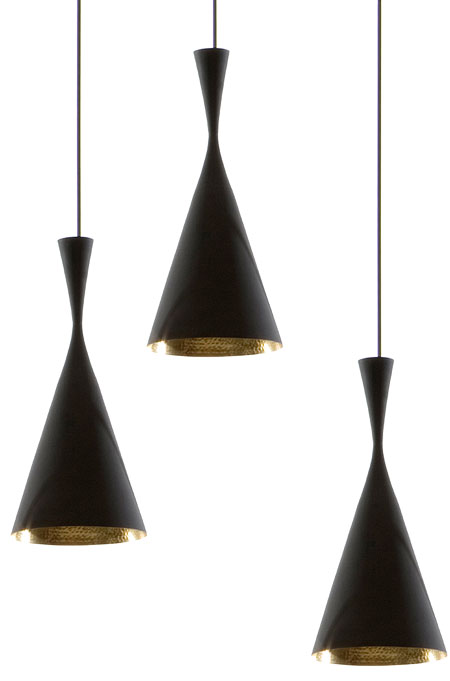 Beat pendant light black copper from tom dixon beat tall Tom dixon lighting