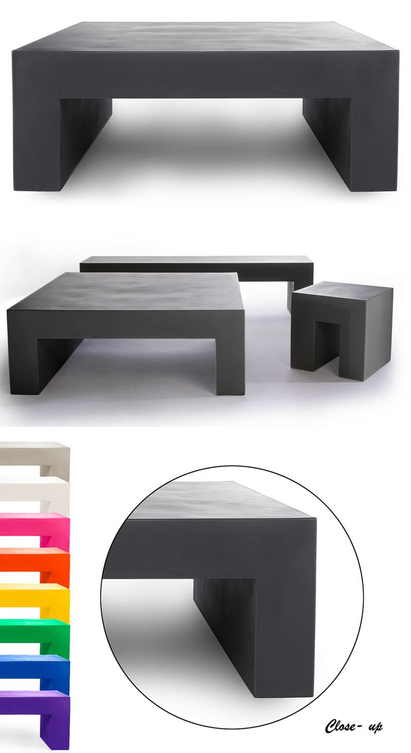 Heller Square Outdoor Coffee Table By Lella And Massimo Vignelli Nova68 Modern Design