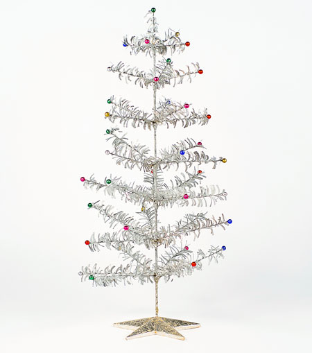 Retro 1950s Style Glitter Tinsel Christmas Tree, Small | NOVA68 ...