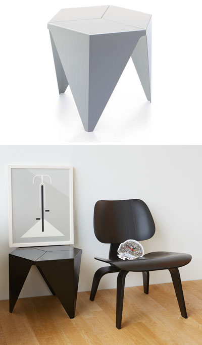 Vitra Design Aluminum Prismatic  Inch Side Table From