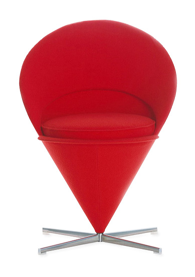 Verner Panton Cone Chair   Red   Vitra Furniture