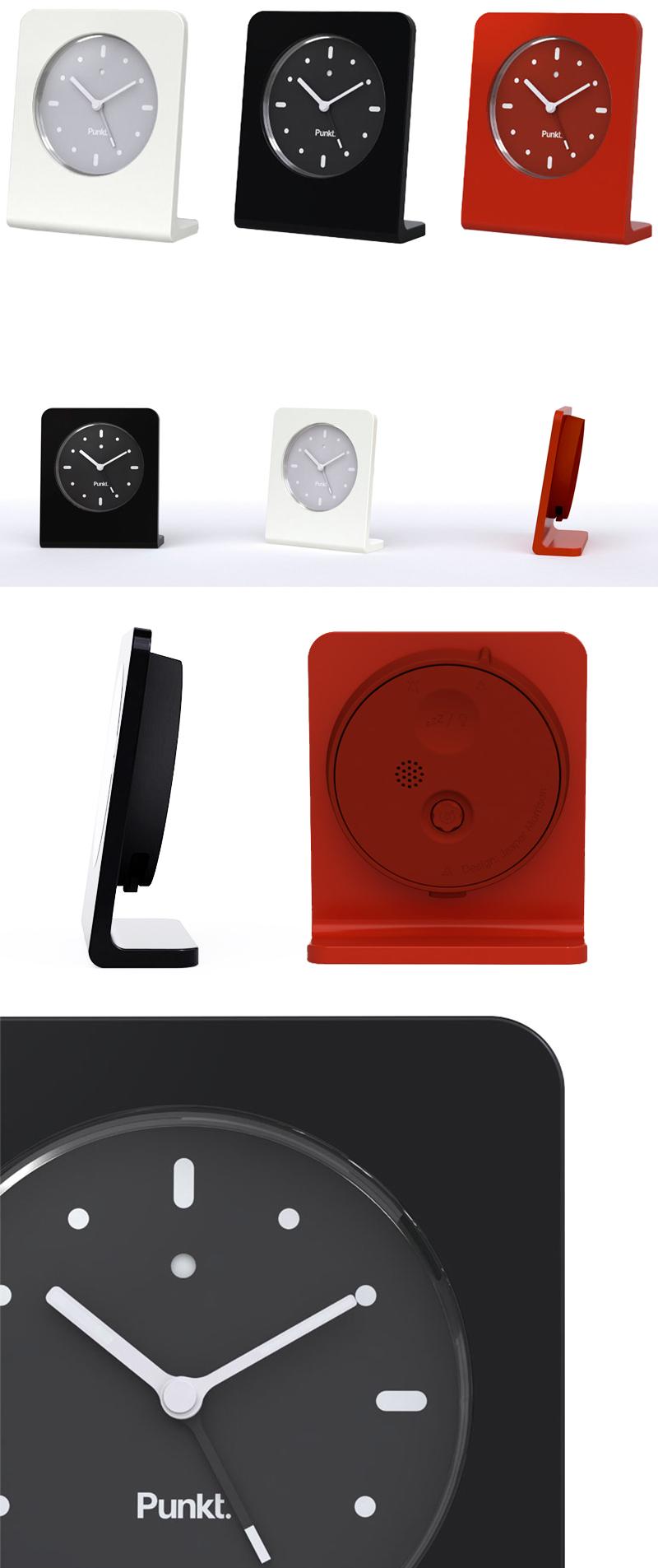 Jasper morrison punkt alarm clock nova68 modern design for Designer alarm clock