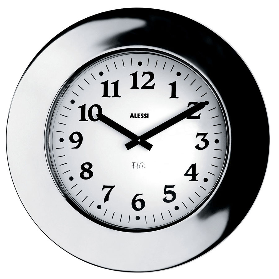 Alessi Stainless Steel Momento Wall Clock Nova68