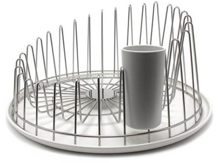 Dish Drainer APD04 - Alessi A Tempo Dish Drainer, Stainless