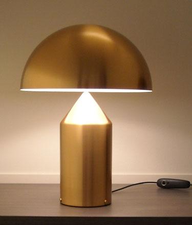 Vico Magistretti Oluce Atollo 233 Gold Table Lamp
