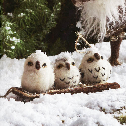 Petite Baby Owl Christmas Ornaments 4 Pack 55 Felt Nova68com