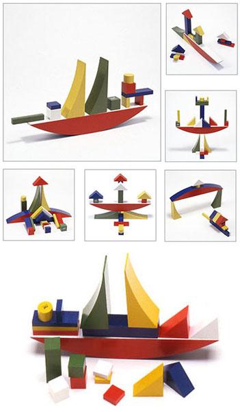 Naef Bauhaus Bauspiel Wooden Blocks Toy Nova68 Modern Design