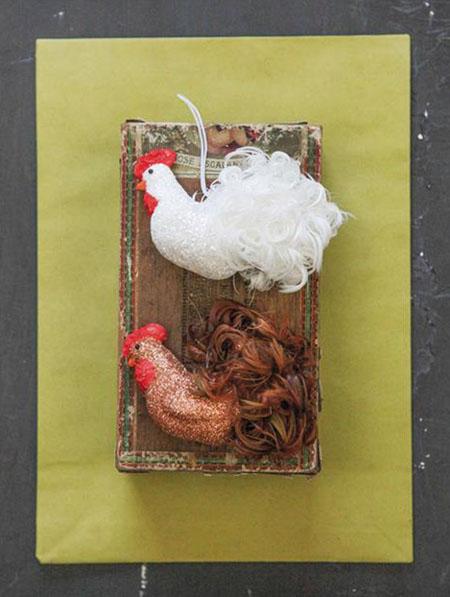 Beautiful Feather Rooster Ornaments Set 2 Nova68 Com