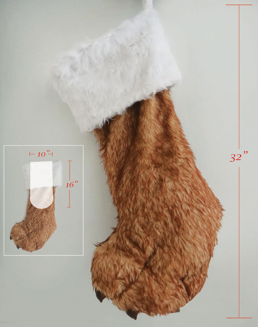 Big Foot Christmas Giant Stocking Click To View Additional Images