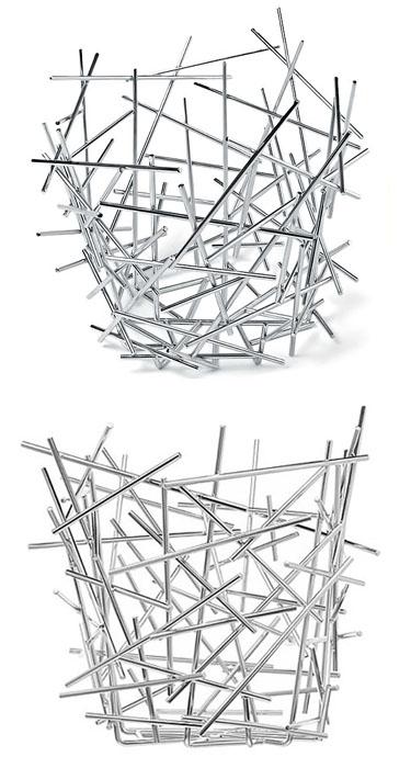 Alessi citrus blow up stainless steel centerpiece basket for fruit nova68 modern design - Alessi blow up basket ...