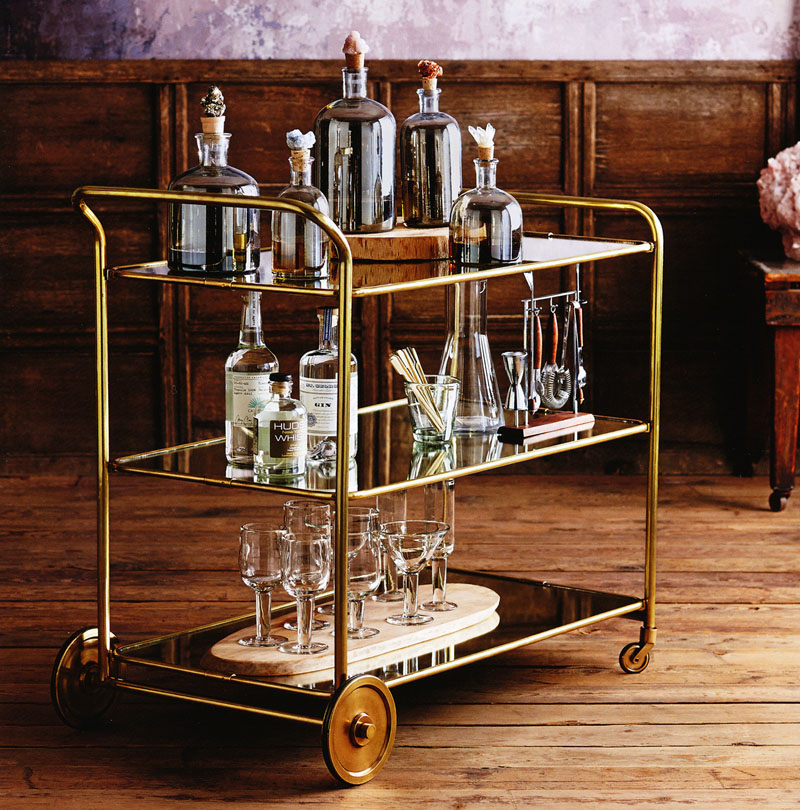 Art Deco Roaring 1920s Rolling Serving and Bar Cart  : brass bar cartB from www.nova68.com size 800 x 810 jpeg 225kB