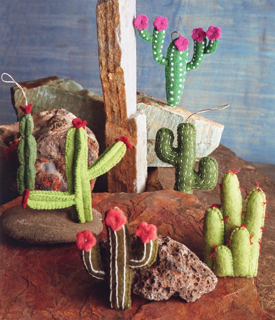 Cactus Christmas Tree.Cactus Ornaments Set Of 6 For Your Christmas Tree