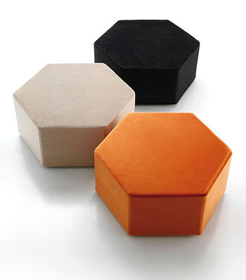 Modern Lounge Furniture Esa Chaise Lounge Pouf By