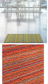 Chilewich: Shag Skinny Stripe Indoor/Outdoor Utility Mat