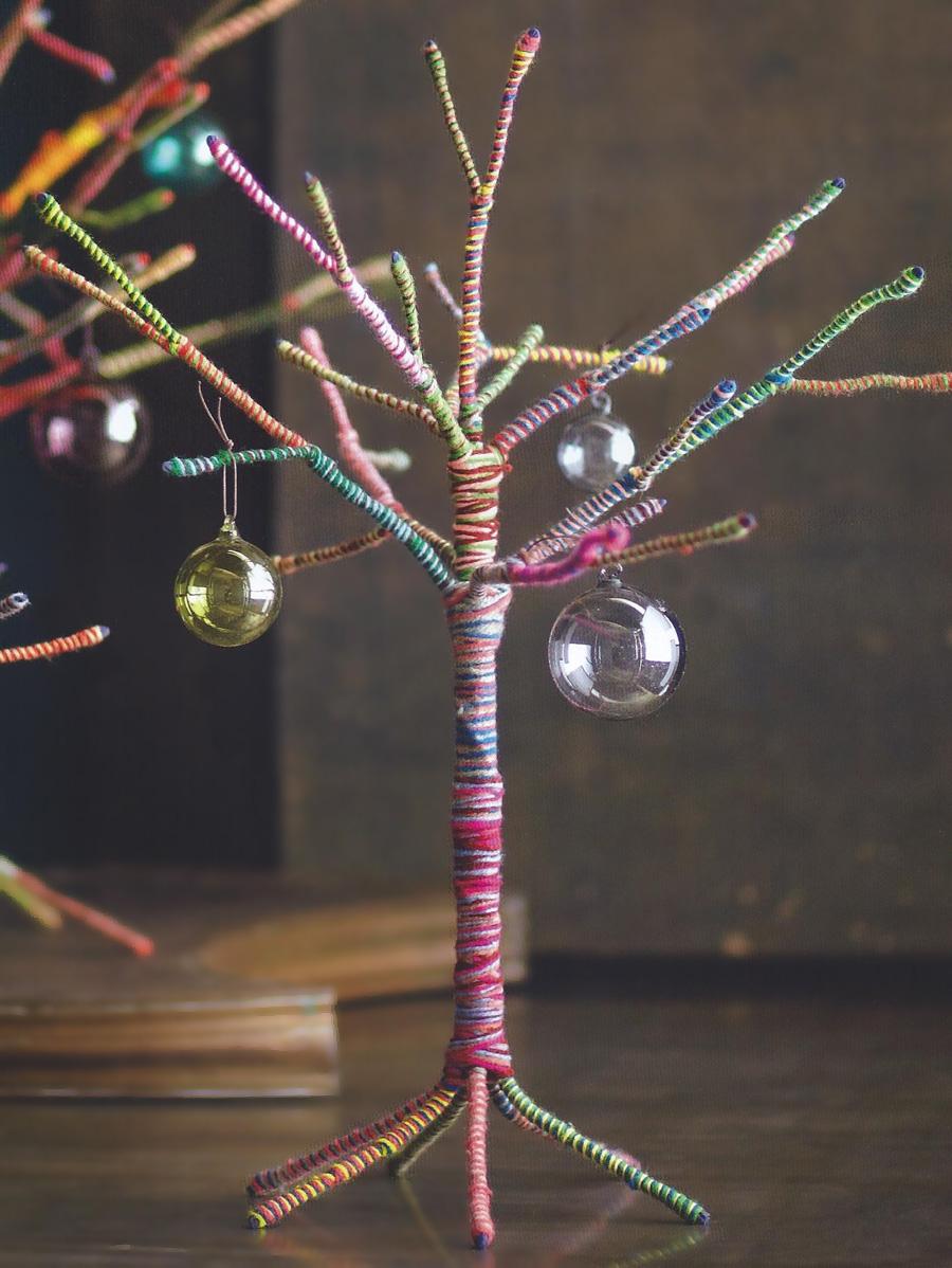 Colorful Yarn Christmas Trees Small Tree NOVA68com