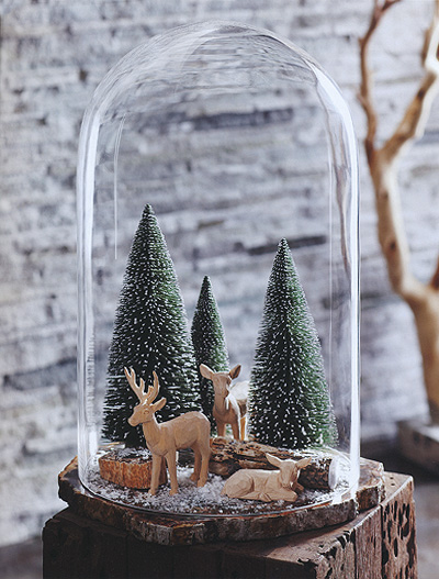 Magical Winter Wonderland Decorative Glass Dome With