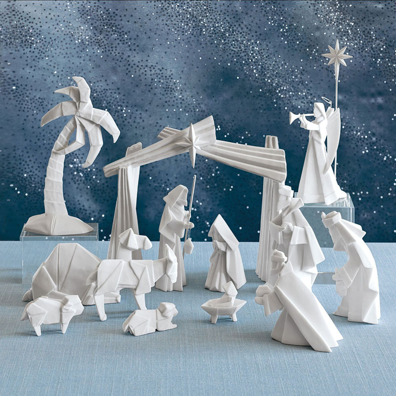 Beautiful Origami Nativity Set With Creche Nova68 Com