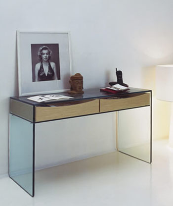Gulliver Modern Glass Console Table by Tonelli | NOVA68 Modern Design