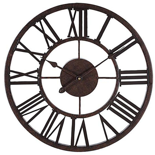 Decorative 17 Wall Clock Metal Roman Numeral