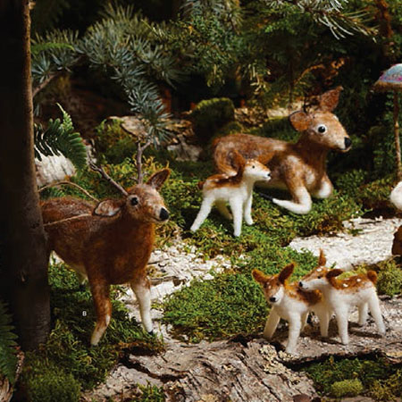 5 X Christmas Tree Deer Family Ornaments Nova68 Com