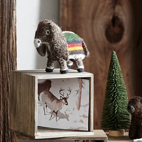 Christmas Ornament Set.Crafty Burro Donkey Christmas Ornament Set 6