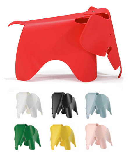 Kids Eames Childrens Red Elephant Modern Chair Sculpture
