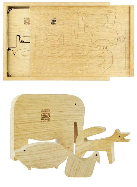Enzo Mari 16 Animali Wood Animal Shape Puzzle Danese Milano
