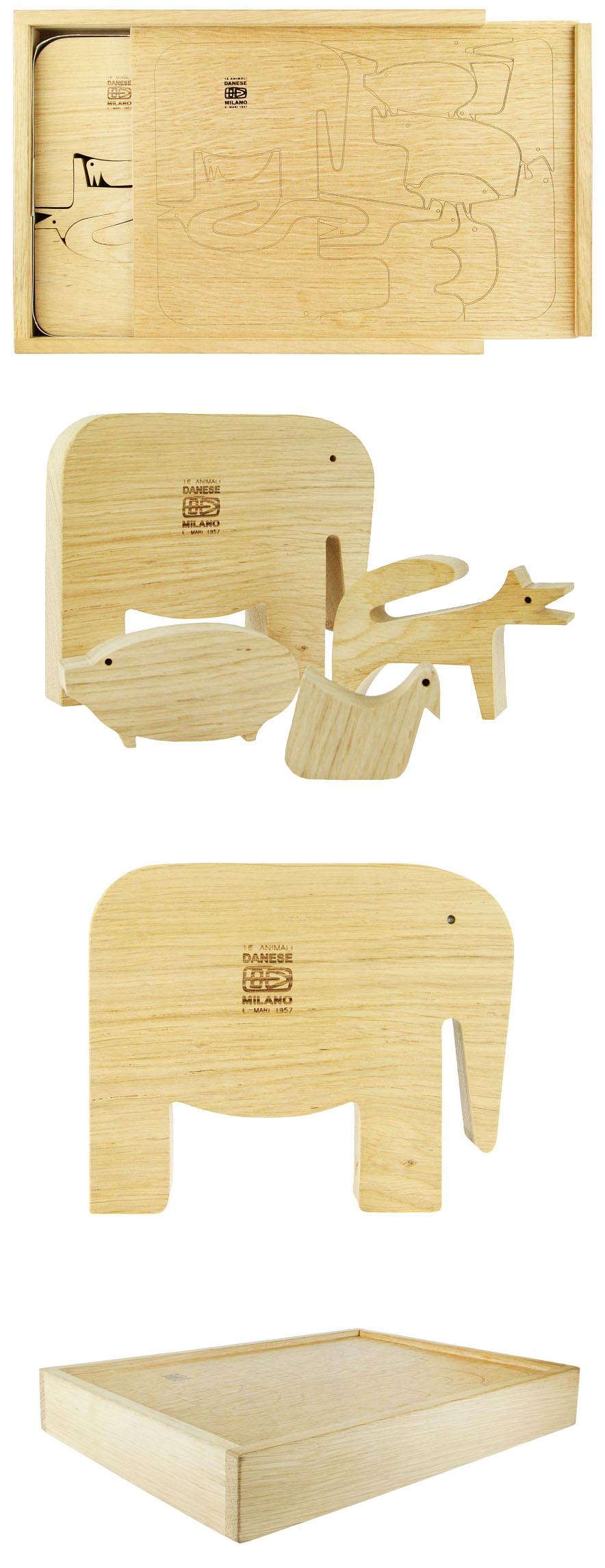 Enzo mari 16 animali puzzle danese milano sale nova68 for Danese design milano