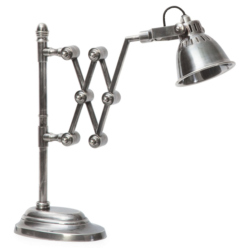 industrial extendable library lamp table lamps steel