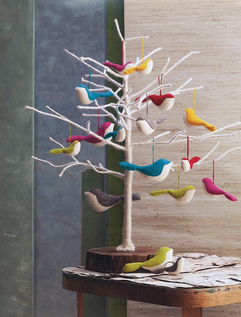 Medium Felt Bird Ornament Bird Christmas Tree Ornaments