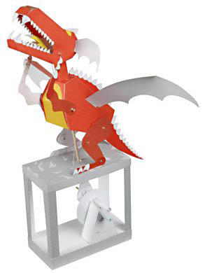 Walter Ruffler Red Fire Dragon Mechanical Paper Kit