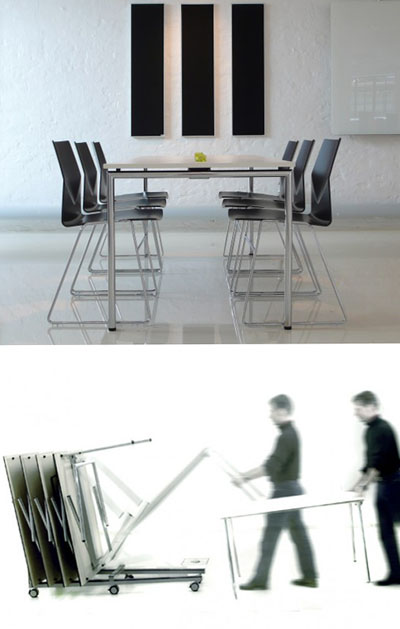 Modern Tables: Mobile Folding Conference Table