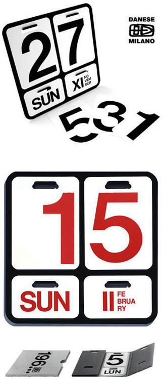 Enzo Mari: Formosa Wall Calendar: NOVA68.COM MODERN DESIGN