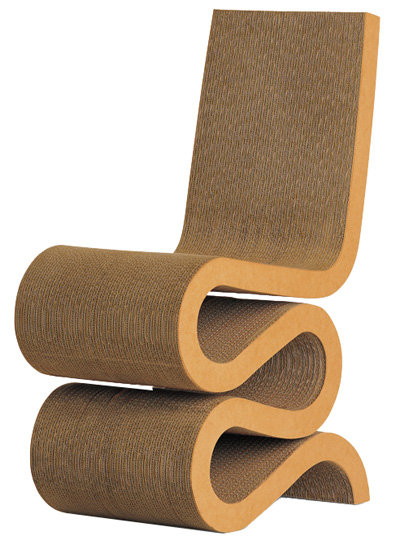 Frank Gehry Original Cardboard Vitra Wiggle Side Chair