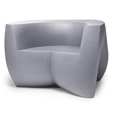 Frank Gehry Original Heller Modern Outdoor Chair, Silver