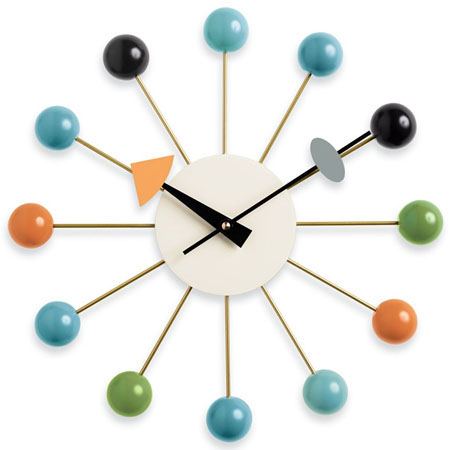george nelson ball wall clock multi colored vitra. Black Bedroom Furniture Sets. Home Design Ideas