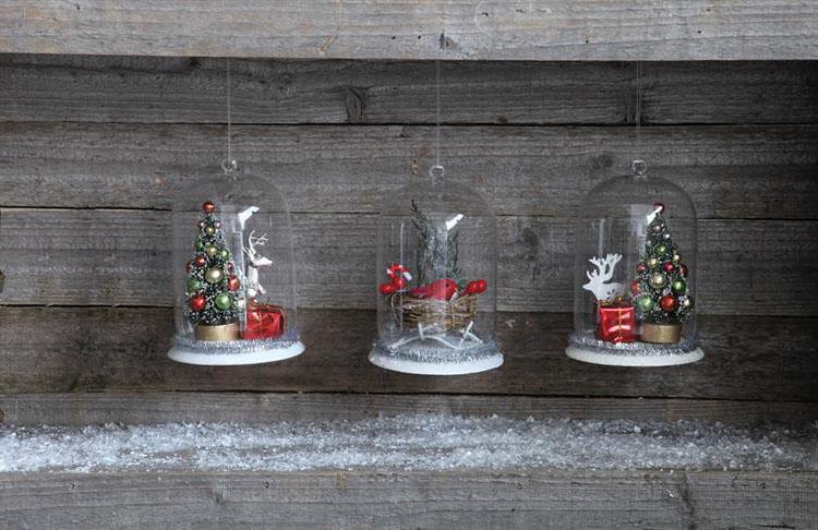 Classic Glass Christmas Dome Ornaments Nova68 Com