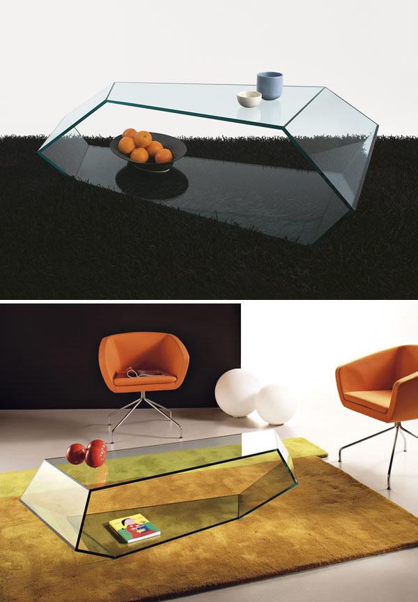 Karim Rashid: Dekon 2 Glass Coffee Table By Tonelli