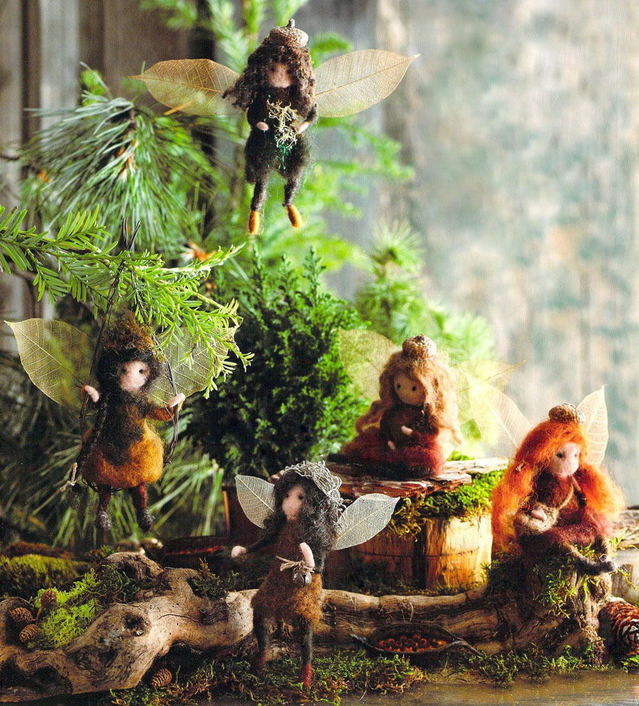 Fairy Christmas Ornaments.Hanging Fairy Christmas Ornament Set Of 5