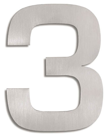 House Number Signs Modern Numbers 3 NOVA68com