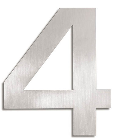 House Number Signs Modern Numbers 4 NOVA68com