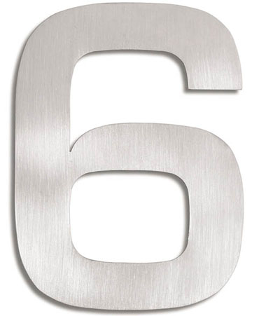 House Number Signs Modern Numbers 6 NOVA68com
